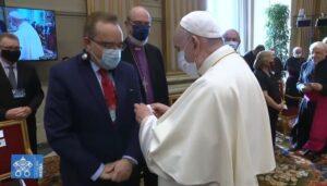Encontro do Bispo Abner Ferreira com o Papa Francisco